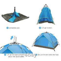 2 Person Automatic Pop Up Camping Tent Dual Layer Fabric Outdoor Sleeping Gears