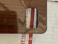 88-90 Mercedes W126 Center Console Switch Bezel Zebrano Wood1266830600