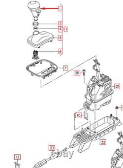 AUDI A3 8L1 Automatic Gear Shift Knob 8X1713141 QBZ NEW GENUINE
