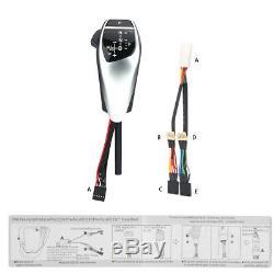 Auto Silver LED Gear Shift Knob For E81 E82 E84 E87 E88 E89 E90 E91 E92 E93