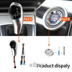 Automatic LED Shift Knob Gear Shifter For BMW E90 E92 E93 F30 Style Silver