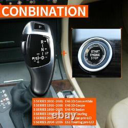 Automatic LED Shift Knob Gear Shifter For E46 E60 E61 E63 E64 +Crystal Button SI
