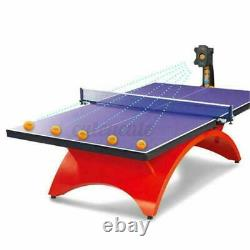 Automatic Table Tennis Robot Ping-pong Balls Multi-rotatio Train Machines 50W