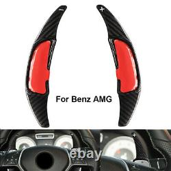 Black Carbon Steering Wheel Paddle Shifter Extension For Benz AMG CLA 45 C63 C43