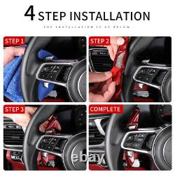 Black Carbon Steering Wheel Paddle Shifter Extension For Toyota camry Corolla