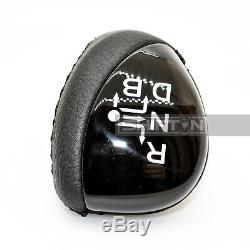 Black Leather Piano Black Gear Shift Knob for Toyota Prius Plug-in Hybrid PrBPB