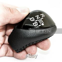 Black Leather Piano Black Gear Shift Knob for Toyota Prius Plug-in Hybrid PrBPB