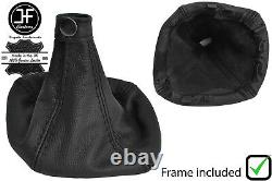Black Stitch Auto Leather Gear Gaiter+plastic Frame For Iveco Daily 2007-2014