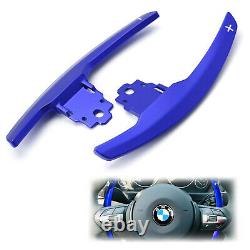 Blue Steering Wheel Paddle Shifter Extension For BMW M2 M3 M4 M5 M6 X5M X6M, etc
