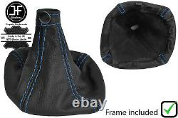 Blue Stitch Manual Leather Gear Gaiter+plastic Frame For Iveco Daily 07-14