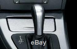 Bmw New Genuine E92 E93 3 Series Automatic Leather/chrome Ring Gear Shift Knob