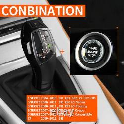 Car Black Automatic LED Shift Knob Gear Shifter For BMW E90 E92 E93 Part A+B US