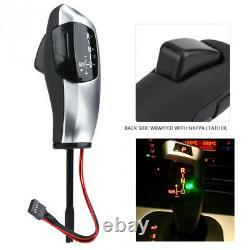 Car LED Gear Shift Knob Automatic Shifter Lever for BMW E46 E60 E61 Left Hand Dr
