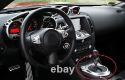 Carbon Fiber Center Gear Shifter Surround Trim For Nissan 370Z Z34 Automatic Car