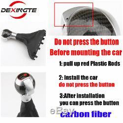 Carbon Fiber Gear Shift Knob For Audi A1 3 6 7 Q3/RSQ3 RS 3 4 5 6 7 SQ 3 5 6 7