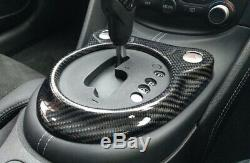 Carbon Fiber Gear Shifter Surround Cover For Nissan 370Z Z34 Automatic Car Only