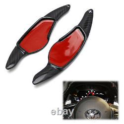 Carbon Fiber Steering Wheel Paddle Shifter Extension For Toyota 2020-up Supra GR