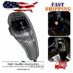 Carbon Fiber Style LED Shift Knob Gear Selector Upgrade for BMW E90 E92 E93 328i