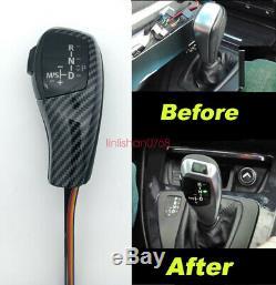 Carbon fiber LHD Automatic LED Gear Shift Knob for BMW E39 E46 E53 E60 E87 E90