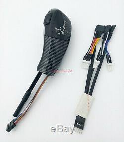 Carbon fiber LHD Automatic LED Gear Shift Knob for BMW E60 520i 523i 525i 530i