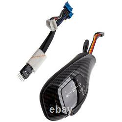 F30 Style Carbon Fiber LED Illuminated Shift Knob Gear Selector for BMW E46 E60