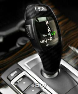 F30 Style Carbon Fiber LED Shift Knob Gear Selector Upgrade For BMW E90 E92 E93