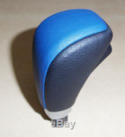 Ford Fpv Fg Fgx Leather Automatic Gear Shift Handle Xr6 Xr8 F6 Gt Black & Blue