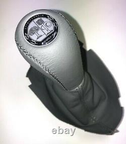Gear Shift Knob + Boot FITS Mercedes Benz E-Class W211 W219 AT Light Gray AMG
