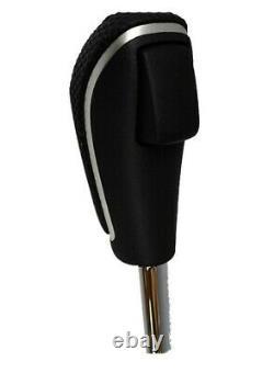 Genuine Holden VE WM Auto Leather Shifter Gear Knob Black/Silver Commodore Cap