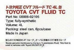 Genuine Toyota Super CVT Fluid TC 4 Liters Transmission Gear Oil 08886-02105 OEM