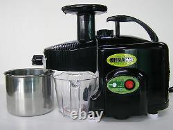 Green Power KPE-1304 TWIN GEAR Masticating JuicerBLACKNEW with multi purpose kit
