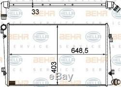 HELLA Kühler Motorkühlung Wasserkühler für Audi Seat Skoda VW // 8MK 376 756-701