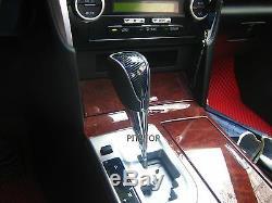 Hilux Vigo Fortuner 05-12 LED gear shift knob Automatic carbon look-Blue light