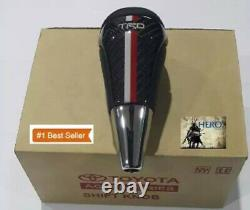 Knob Gear Auto Head (TRD) for Toyota Type 6 Original Genuine Leather Vios Altis