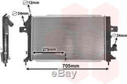 Kühler, Motorkühlung für Kühlung VAN WEZEL 37002383