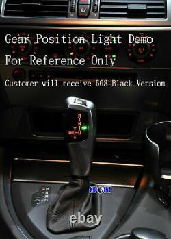 LED Gear Shift Knob Shifter Lever For BMW E60 E61- 668 Black LHD Automatic