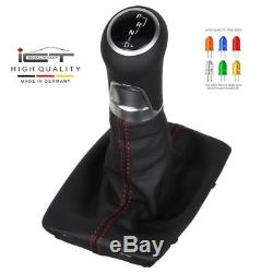 LED ICT gear shift knob Mercedes C Kl. W204 S204 C204 leather thread red new C58