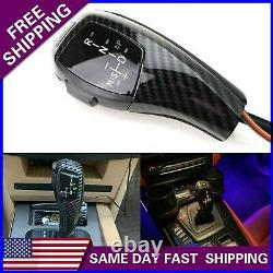 LED Shift Knob F30 Style Carbon Fiber Gear Selector Upgrade for BMW E90 E92 E93
