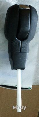 Land Rover OEM LR3 Discovery 3 Black Leather Rhodium Automatic Shift Knob Lever