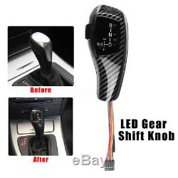 Led Automatic Shift Gear Shift Knob For E46 98-06 E60 5 Er 04 Carbon Fiber