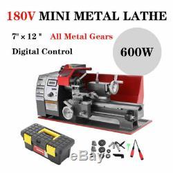 Metal Gears Mini Turning Lathe Metal working Motorized Cutter Milling 600W