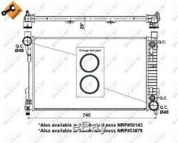 NRF Kühler Wasserkühler Motorkühlung Motorkühler EASY FIT 53419 Mercedes-Benz