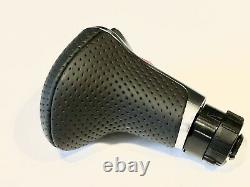 New OEM Audi A3 A4 A5 A6 Q5 Q7 LHD Automatic Perforated Leather Gear Knob
