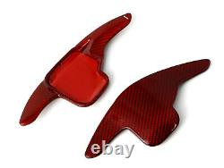 Red Carbon Steering Wheel Paddle Shifter Extension For BMW 2 3 4 5 6 X1 X4 X5 X6