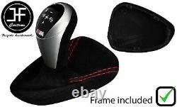 Red Stitch Suede Automatic Dct Gear+plastic Frame For Bmw M3 E90 E92 E93