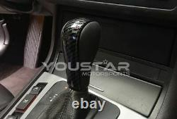 UK STOCK Genuine Leather Carbon Look Automatic Gear Knob for BMW 3 5 7 X5 Z3 X3