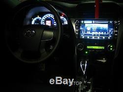 Vigo Hilux Fortuner SW4 05-14 LED gear shift knob Automatic carbon- WHITE light